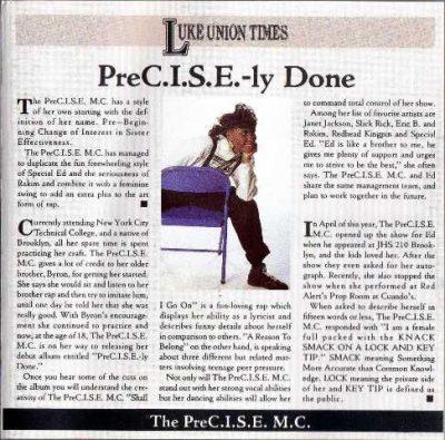 The PreC.I.S.E. MC - 1991 - PreC.I.S.E.-ly Done